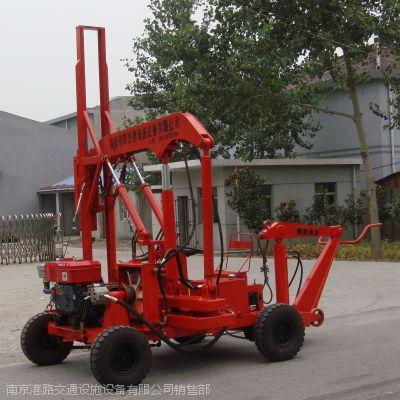 供应 波形护栏液压打拔一体机、公路护栏板液压打拔一体机、南京港路。