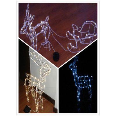 供应太阳能led小鹿装饰灯,家用商用室外装饰灯,节庆工艺造型灯