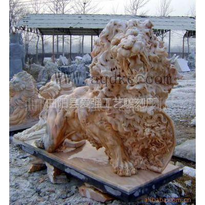 曲阳石雕厂供应 现货 石狮子、曲阳雕刻厂厂家供应 欧式石狮子