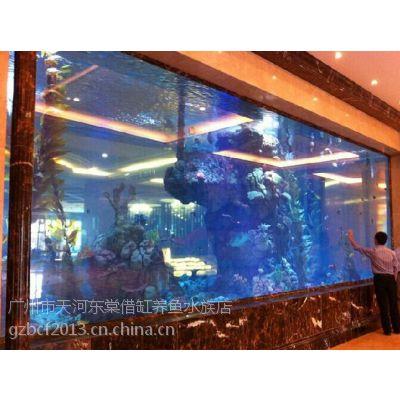 酒店大堂鱼缸定做,星级酒店大型观赏鱼缸,亚克力鱼缸定做,广州哪里定做亚克力鱼缸