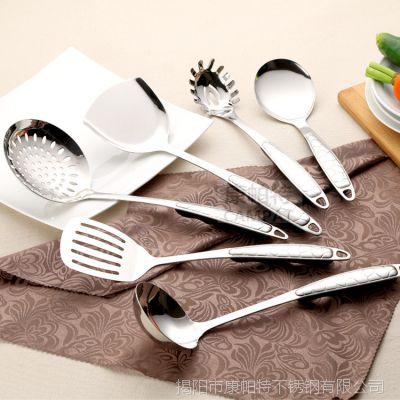 A87水立方不锈钢厨具六件套勺铲锅铲汤勺烹饪工具