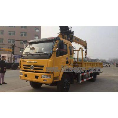东风特商随车吊,6.3吨随车吊平板运输车,3.8L5.1米车厢价格
