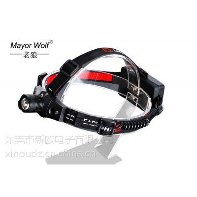 厂家直销 led强光充电5W变焦干电池头灯 户外登山狩猎灯钓鱼灯