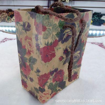 【檀之香】批发精美手提袋 纸袋 纸质手提袋 玫瑰花形包装袋