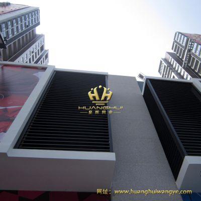 厂家直销百叶窗 锌钢百叶窗 防风防雨防盗空调百叶窗 喷塑组装百叶窗