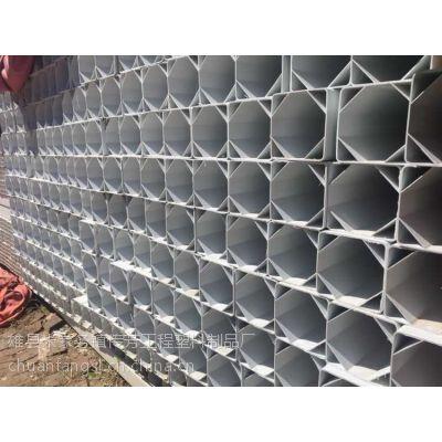 厂家直销多种规格PVC格栅管 高品质格栅管 抗挤压通信管道电线管