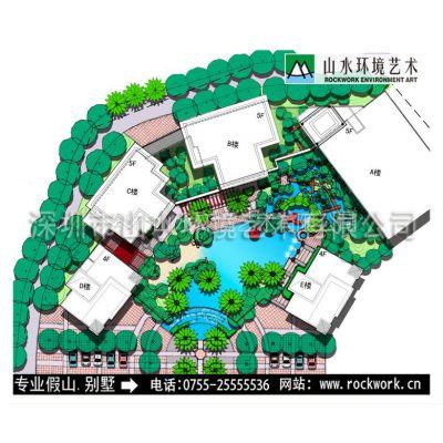 供应深圳山水环境别墅装修设计,专业深圳别墅花园景观平面设计