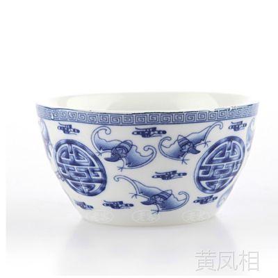 陶瓷茶具 青花瓷蝙蝠茶碗 普洱茶杯品茗杯 个性功夫茶具 杯子