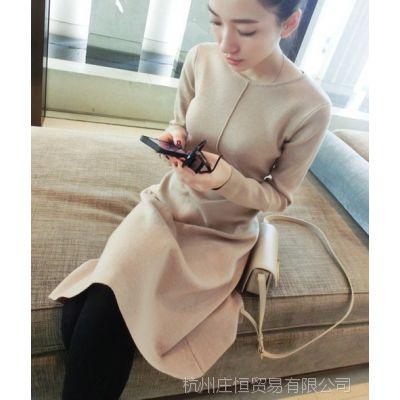 【YESWOMEN】小宜定制 2014秋冬女装 高端长裙加厚针织连衣裙