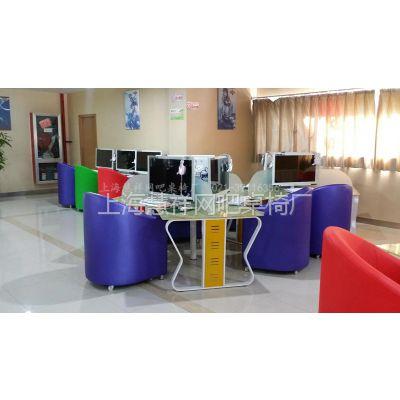 供应多边形网吧桌椅上海个性网吧桌椅沙发包间电脑桌雅座可躺沙发