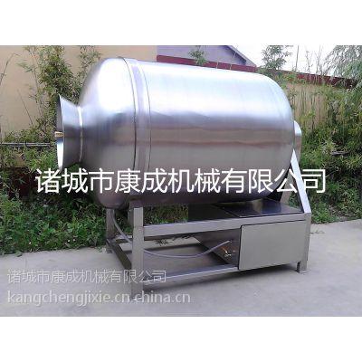 厂家促销实验型真空滚揉机西式香肠腊肠入味机不锈钢200L滚揉腌制机诸城康成