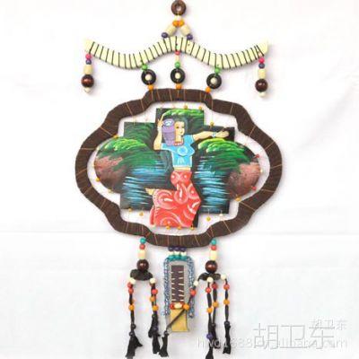 民族民俗手工艺彩绘皮质画新品批发