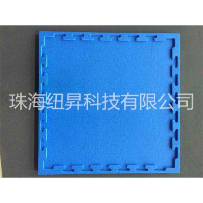 生产零售 XPE发泡海绵 15*600*600mm 蓝&黄色 草席纹路 婴儿爬行垫