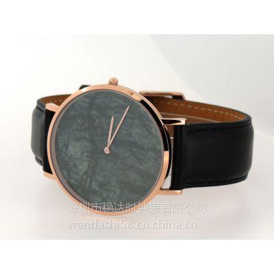 爆款热销手表 大理石字面DW款式石英不锈钢手表 稳达时OEM代工