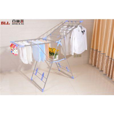 【落地翼型晾衣架】百丽莱折叠晾衣架 毛巾架落地室内晒衣架折叠式阳台翼型晾晒架