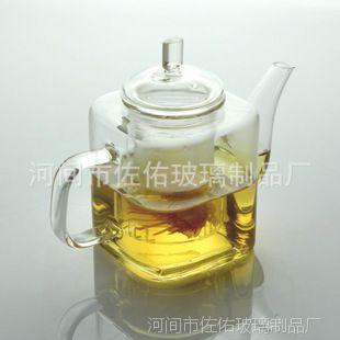 耐热玻璃茶壶手工带过滤内胆玻璃方形茶壶 玻璃花草茶壶泡茶壶