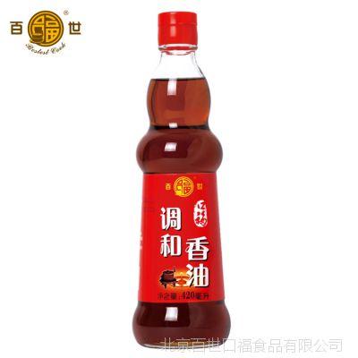 口福芝麻调和香油 火锅香油拌菜红烧调味油浓香调味油420ml*12瓶