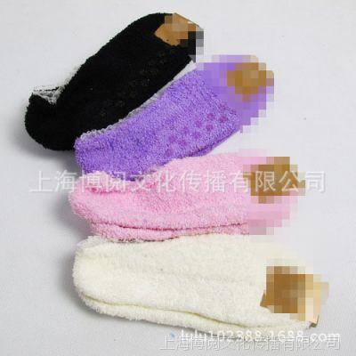 tutu日单点胶地板袜 批发外贸原单点塑防滑男女袜子