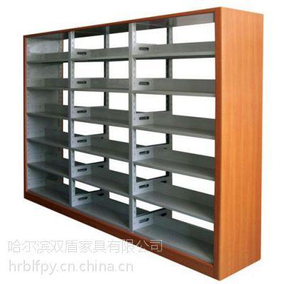 供应哈尔滨书架、图书馆书架、学生书架厂家