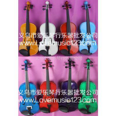 供应彩色枫木小提琴出口欧美中东大量有货