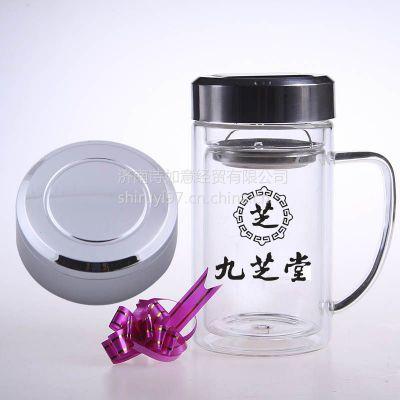 供应安徽双层玻璃杯定做--礼品杯定制玻璃杯厂家诗如意