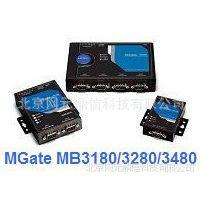 供应MB3480 1网口4串口 MOXA摩莎 Mgate以太网网关4串口标准MODBUS