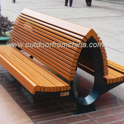 供应泊头商业街休息椅,钢木公园椅厂家