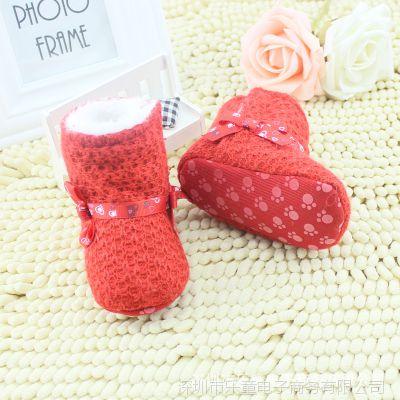 冬天婴儿雪地靴学步鞋0-1岁/婴儿鞋/学步鞋/女童公主学步鞋