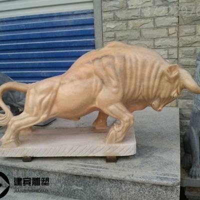 厂家供应晚霞红石雕牛