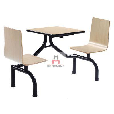 中连快餐桌椅 边连餐桌椅 两人位连体餐桌椅 四人位连体餐桌椅