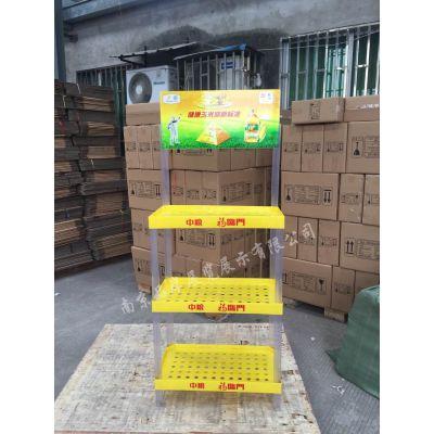 【厂家直销】福临门塑料陈列架食用油促销展示架大豆油三层摆放架