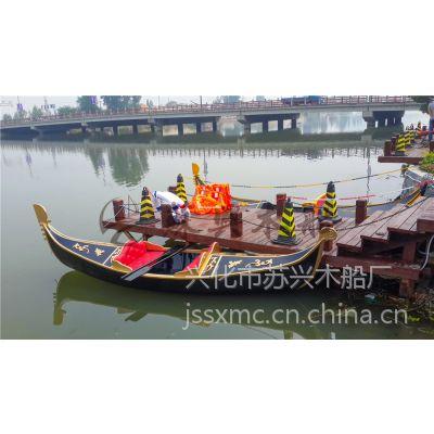4m贡多拉木船 公园景区欧式手划船 精品贡多拉观光船 款式可定制