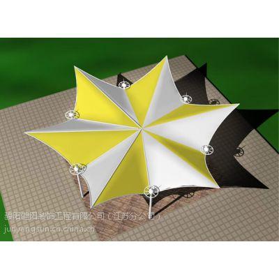 【低造价】骏阳膜结构停车棚、膜结构景观、球场看台膜【别致设计增彩】