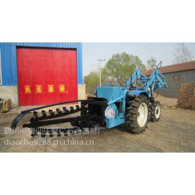 厂家供应 电缆沟开沟机 拖拉机挖坑机 四轮504开沟设备 5米/分