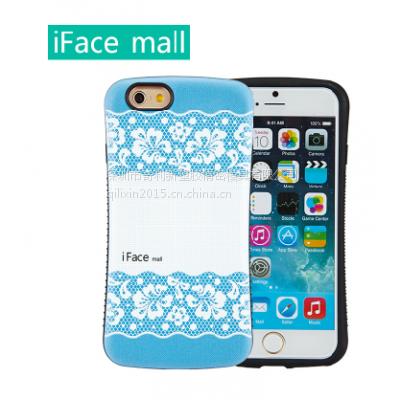供应iface mall新款iphone6 plus防摔手机壳5.5寸彩绘浮雕保护套