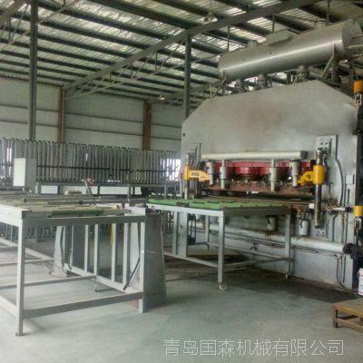 青岛国森机械制造三聚氰胺贴面防火板压机生产线