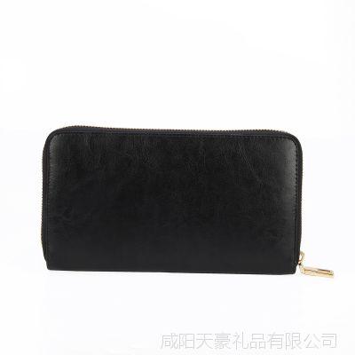新款钱包 商务休闲男士真皮钱包 单拉链男士长款钱包 一件代发