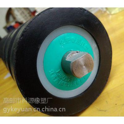 供应磷复肥专用橡胶托辊 钢芯铸胶托辊,包胶托辊