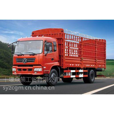供应东风6.8米高栏车 御龙康机170货车 中型货运单桥5-10吨 6米8仓栅栏车
