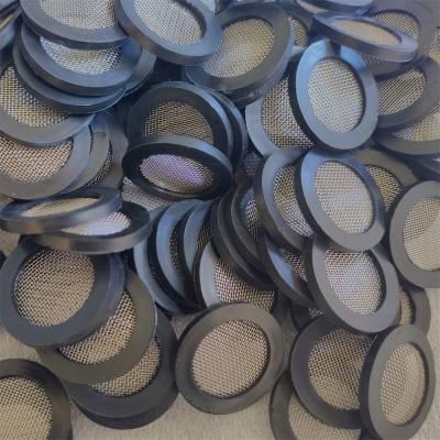 YF0521水表滤网垫片DN25环保橡胶包边圆形过滤网垫片