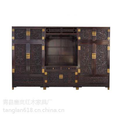 供应唐岚精品红木家具带垂花罩门顶箱柜