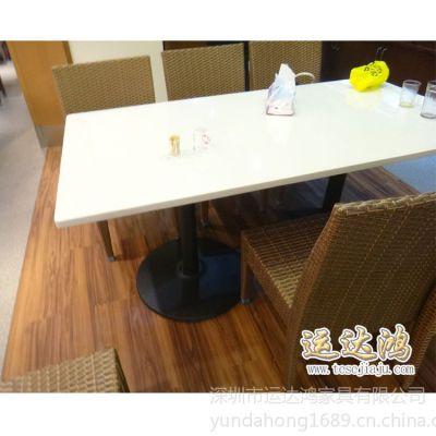 供应深圳家具厂定做 直销烧腊店桌子 快餐店餐桌 餐厅餐桌椅