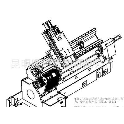 供应台正斜床身卧式数控车床光机TOM-TCK4558加工长度960