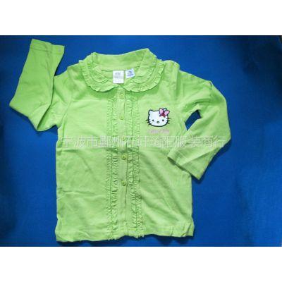 供应2012爆款春秋HELLOKITTY女童长袖T恤(衬衫)   女童长袖T恤