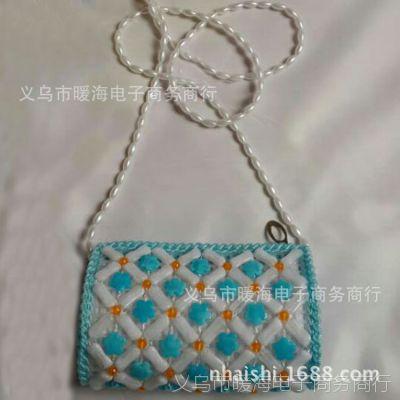 玉骨包 珍珠包 串珠包 女士斜跨包 女式钱包 时尚零钱包 珍珠包
