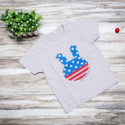 童T恤韩版夏季童装上衣儿童短袖男童女童纯棉短袖T恤清仓一件代发