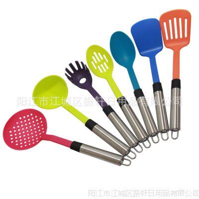 2015热销爆款 彩色7件套尼龙厨具 款式新颖 多功能烹饪勺铲