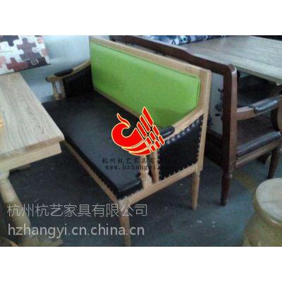 杭州专业承接高级餐厅装饰工程/美式餐厅家具桌椅制作/复古餐桌椅厂家