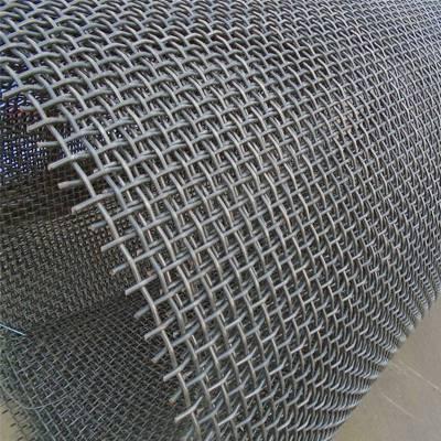 安平轧花网 电镀锌铁丝网 防护轧花网