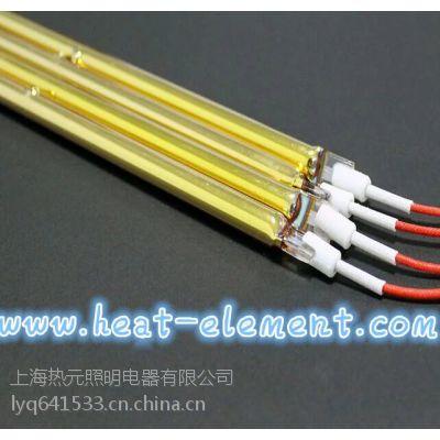 上海热元批发太阳能光伏鞋机制造加热用半镀金红外线加热管 短波近红外线可定制
